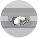 Systemleuchte-LECAR-Lichteinsatz-E1-LED-Aluminium-Silber