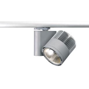 LED-Aufbaustrahler-für-3-Phasen-Stromschiene-MIDI-TUBE-Silberne-Umweltfreundliche-Aufbauleuchte-LECAR